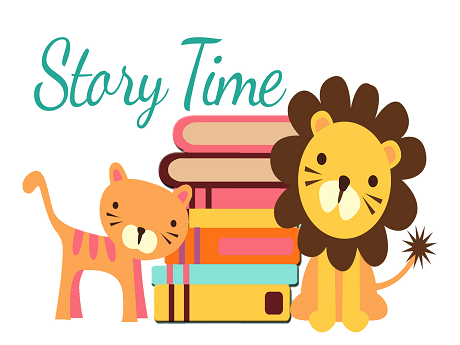 Story Time Tiger and Lion with Books