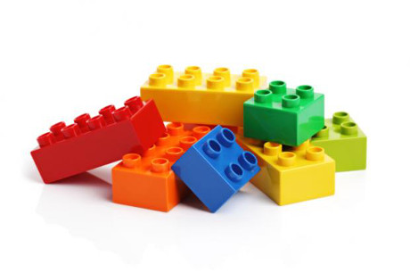 a pile of LEGO blocks