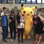 People dressed up as pokemon