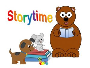 Cartoon animals reading books. Storytime