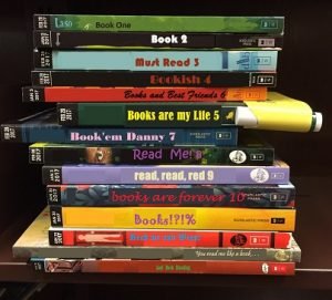 stack of teen books