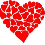 large red heart made of smaller hearts