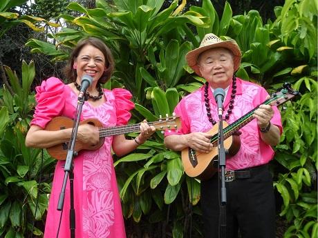 Musicians Mele Fong and Richard Tom
