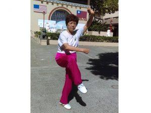 Woman doing Tai Chi