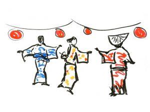 Bon dance drawing