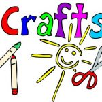 Crafts with crayons and scissors