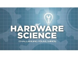 Hardware Science logo with lightbulb