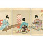 Japanese women playing instruments