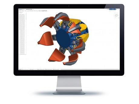 CAD rendering on computer screen