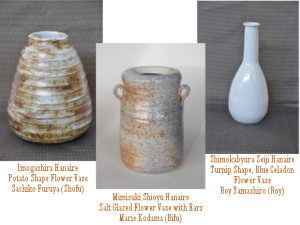Hanaire made by Shofu Kai ceramists of the Hawaii Potters' Guild