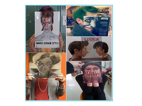 Teen Bookface Exhibit