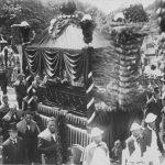Photograph showing Queen Liliuokalani's Catafalque