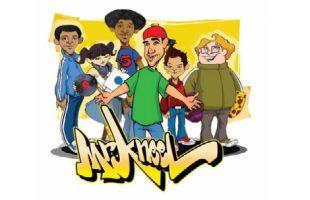 Cartoon image of Mr. Kneel and friends