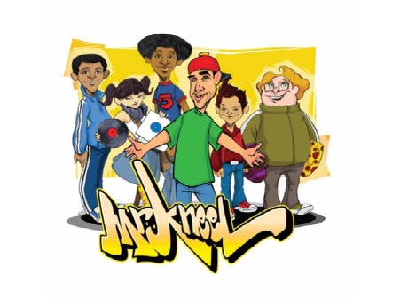 Cartoon image of Mr. Kneel and friends