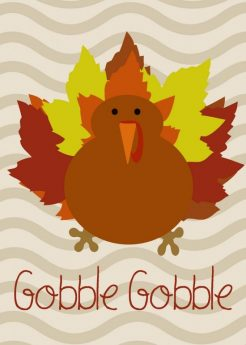 turkey with words gobble gobble