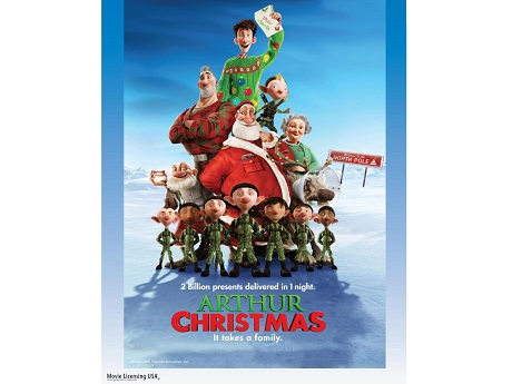 Arthur Christmas Poster.Hawaii State Public Library Systemfamily Fun Night Holiday