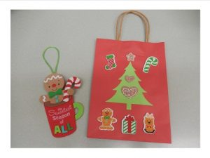Gingerbread Man Ornament and Christmas Gift Bag