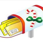 Cartoon image of cards in mailbox