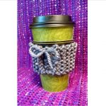 coffee cup with knit cozy