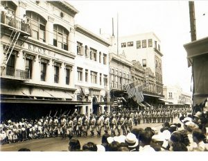 WWI parade Hawaii