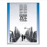 Documentary poster with a snow-covered bridge and two people walking across the bridge
