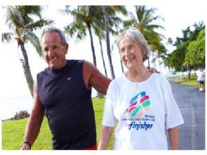 Seniors walking for exercise
