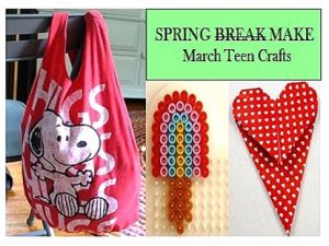 Bag, Perler, and bookmark crafts