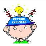 Boy with Future engineer helmet