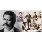 Three black and white images of Prince Kuhio at various ages