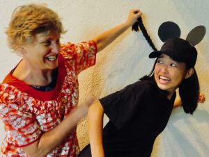 two women in costume