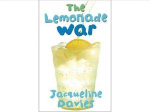Lemonade War book cover with glass of iced lemonade