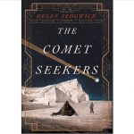 The Comet Seekers cover featuring two figures in Antarctica offset by a tent with a comet overhead in the night sky