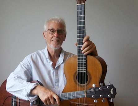 Lee Eisenstein with two guitars.