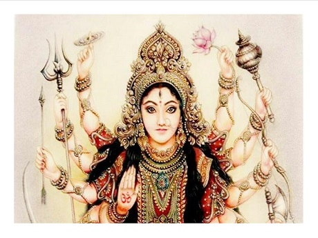image of Durga, Hindu goddess