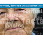 Phioto of a senior citizen with text about Alzheimers.