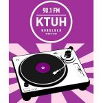 KTUH logo and turntable