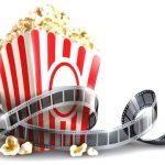 popcorn and filmstrip