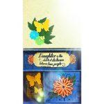 Bird's eye view of paper craft miniature memory box