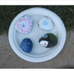 4 painted river rocks