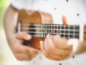 Musician Playing Ukulele Guitar