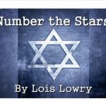 "Printed Text: ""Number the Stars"" by Lois Lowry with Star of David graphic"