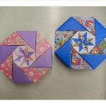 Two origami boxes.