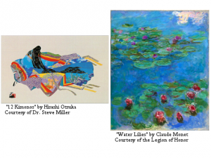 Image featuring 12 Kimonos by Otsuka and Water Lilies by Monet