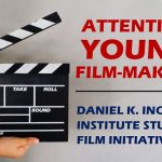 Image of Clapper board with Attention Young Film-makers caption