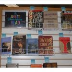 Photo of book display of Great American Read books at Kapolei Public Library