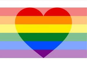 PRIDE Rainbow Flag with Heart