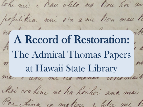 Record of Restoration Exhibit title
