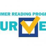 Graphic that says Summer Reading Program Survey
