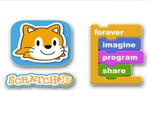 ScratchJr. App Logo with Text