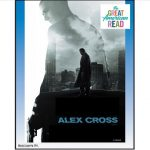 Film poster with silhouette of villain against figure of Alex Cross standing on rooftop